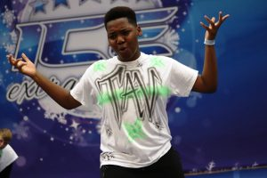 A hip hop dancer competes at ICE