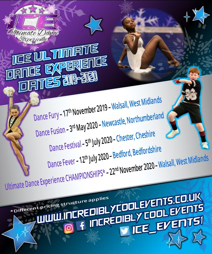 ICE Ultimate Dance Experience Competition Dates 2019-2020 Season